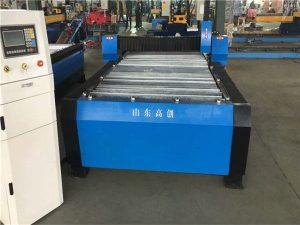 Kína Huayuan 100A Plasmaskurður CNC vél 10mm plata málmur