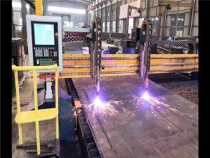 Tvöföld drif Gantry CNC Plasma klippa vél H Beam Framleiðslulína Hypertherm CNC kerfi