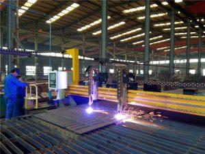 Gantry CNC Plasma klippa vél og logi klippa vél fyrir stálplötu